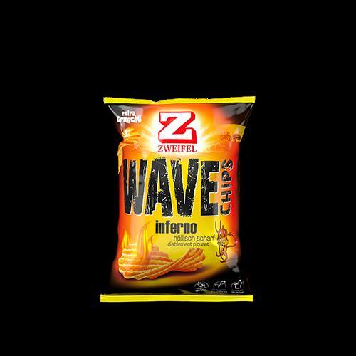 Zweifel Chips Wave Inferno Portion 20 Packungen à 30 gr