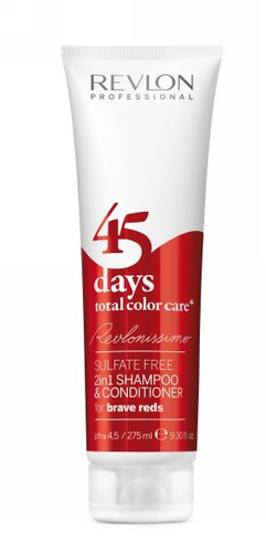 Revlonissimo 45 days 2in1 Shampoo & Conditioner Brave Reds 275 ml