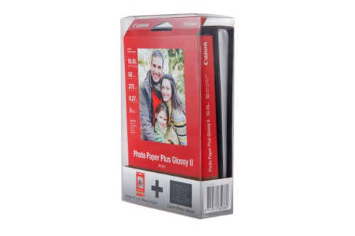 CANON Photo Paper Plus 4x6 10x15cm PP-201 PhA. incl. Photo Album 50 Blatt