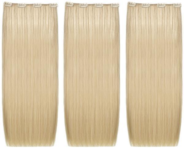 she hair extensions clip in echthaar 26 honigblond 50 55. Black Bedroom Furniture Sets. Home Design Ideas