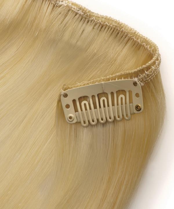 she hair extensions clip in echthaar 27 mittel goldblond. Black Bedroom Furniture Sets. Home Design Ideas