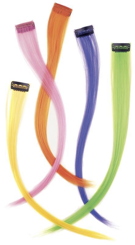 SHE Hair Extensions Clip In Funky, Kunsthaar Pink 40 cm